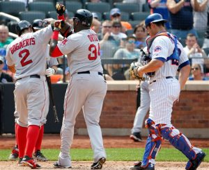 Xander Bogaerts, David Ortiz, Anthony Recker