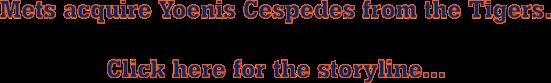 Mets acquire Cespedes head