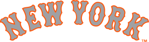 Mets New York grey with orange stroke lettering