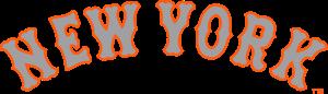 Mets New York grey with orange stroke lettering